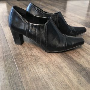Franco Sarto black ankle boots